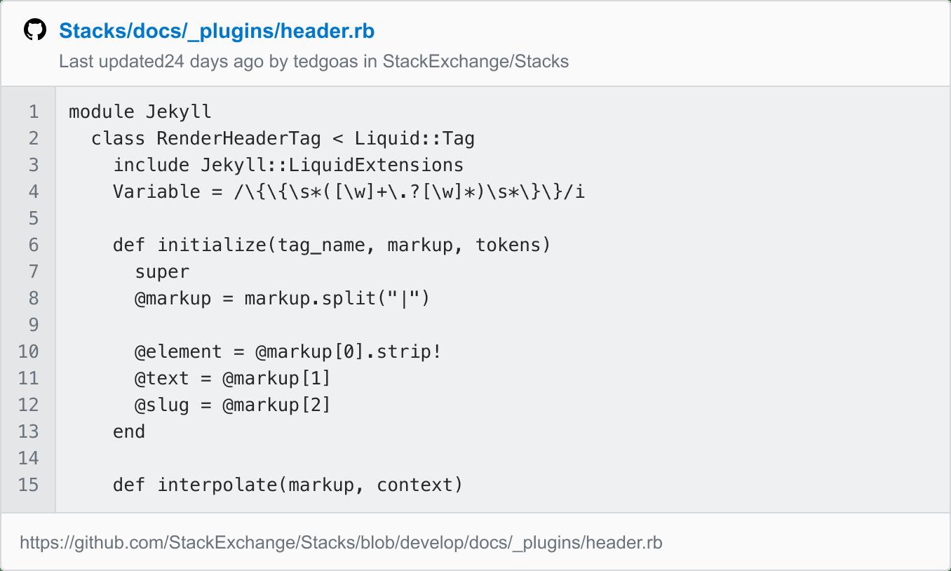 Unfurled GitHub link.