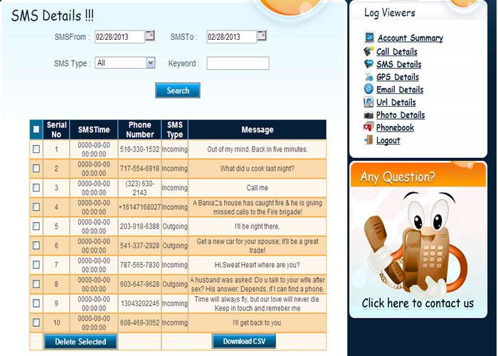 Aplikasi SADAP HP dengan SpyBubble - Pesan SMS