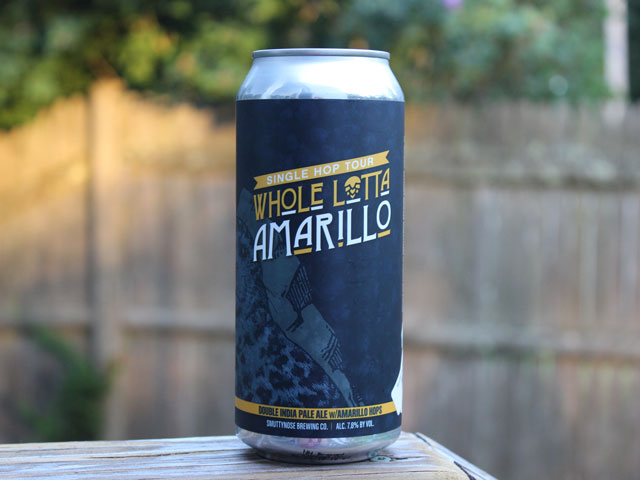 Whole Lotta Amarillo, an IPA brewed by Smuttynose Brewing Company
