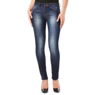 Buffalo Faith Midrise Skinny Scratched Jean