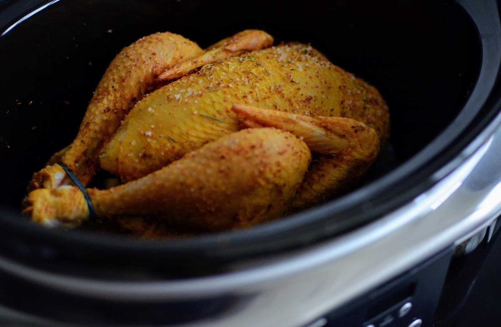 Herb-rubbed chicken in Crock-Pot