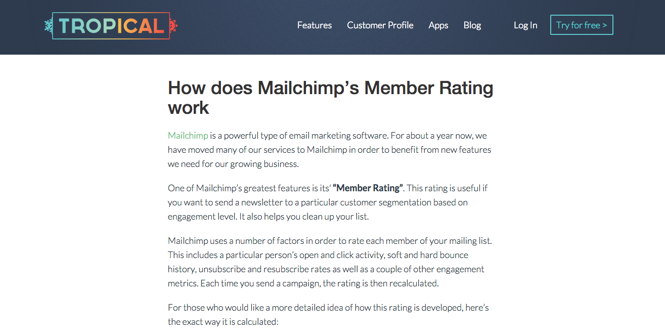 tropical-mailchimp-member-rating