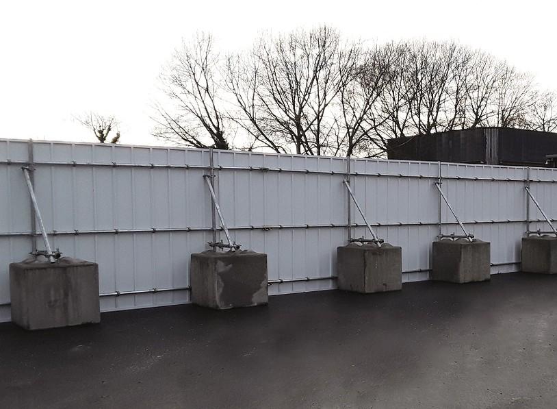 Reusable PVC site hoarding