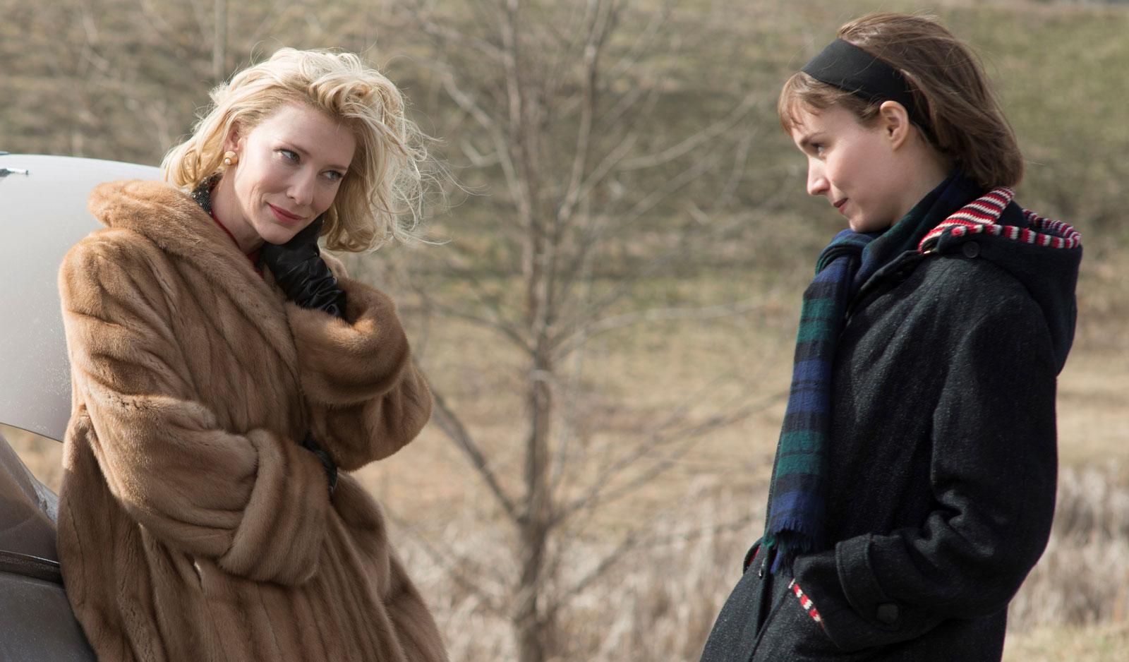 Кэрол (Кейт Бланшетт) иТереза (Руни Мара). Кадр изфильма «Кэрол» (2015, режиссер Тодд Хейнс). Источник: imdb.com