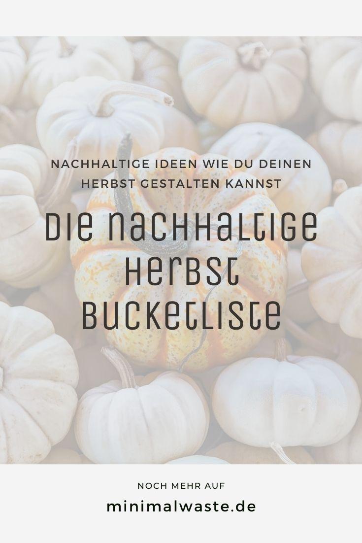 Pinterest Cover zu 'Die nachhaltige Herbst Bucketliste'