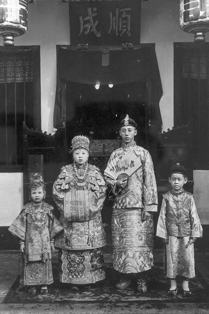 土生华人的新郎、新娘和花童,1920年代