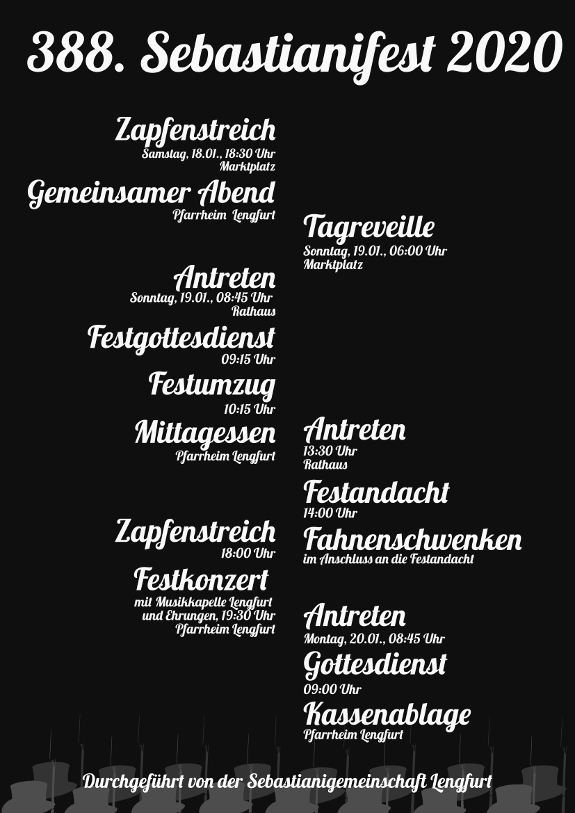 Ablauf Sebastiani Lengfurt 2020