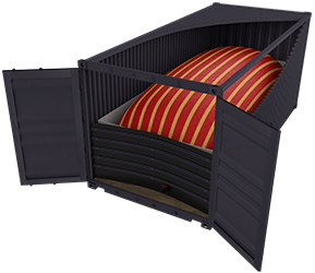 flexitank in standard shipping container