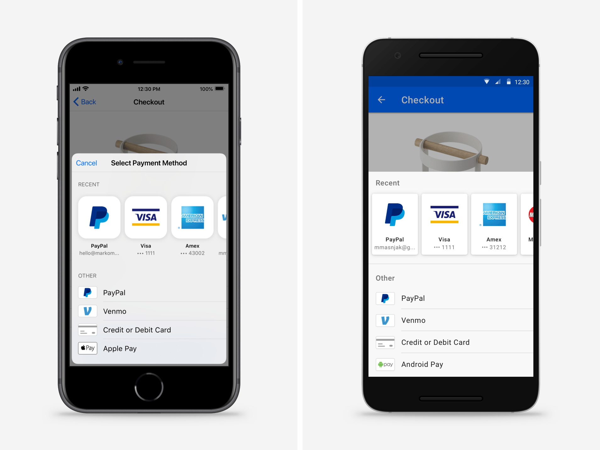 Drop-In Mobile Payment Interface