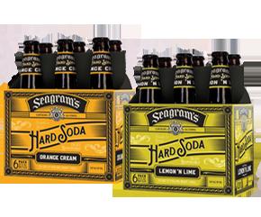 Seagram's Hard Soda 6 pack bottles