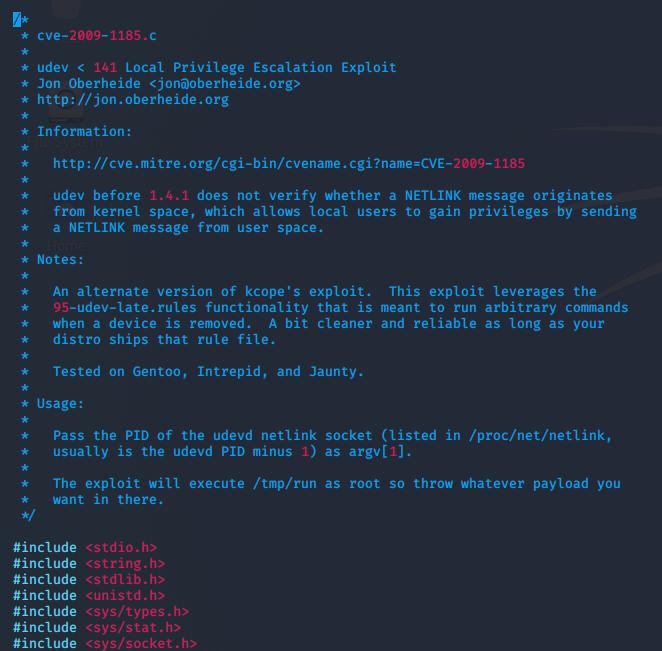 udev-exploit-code