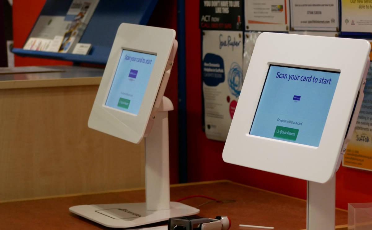 2 self-service kiosks