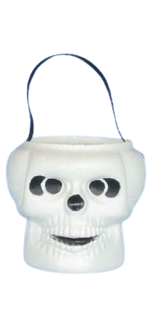 Skull Pail with Handle photo