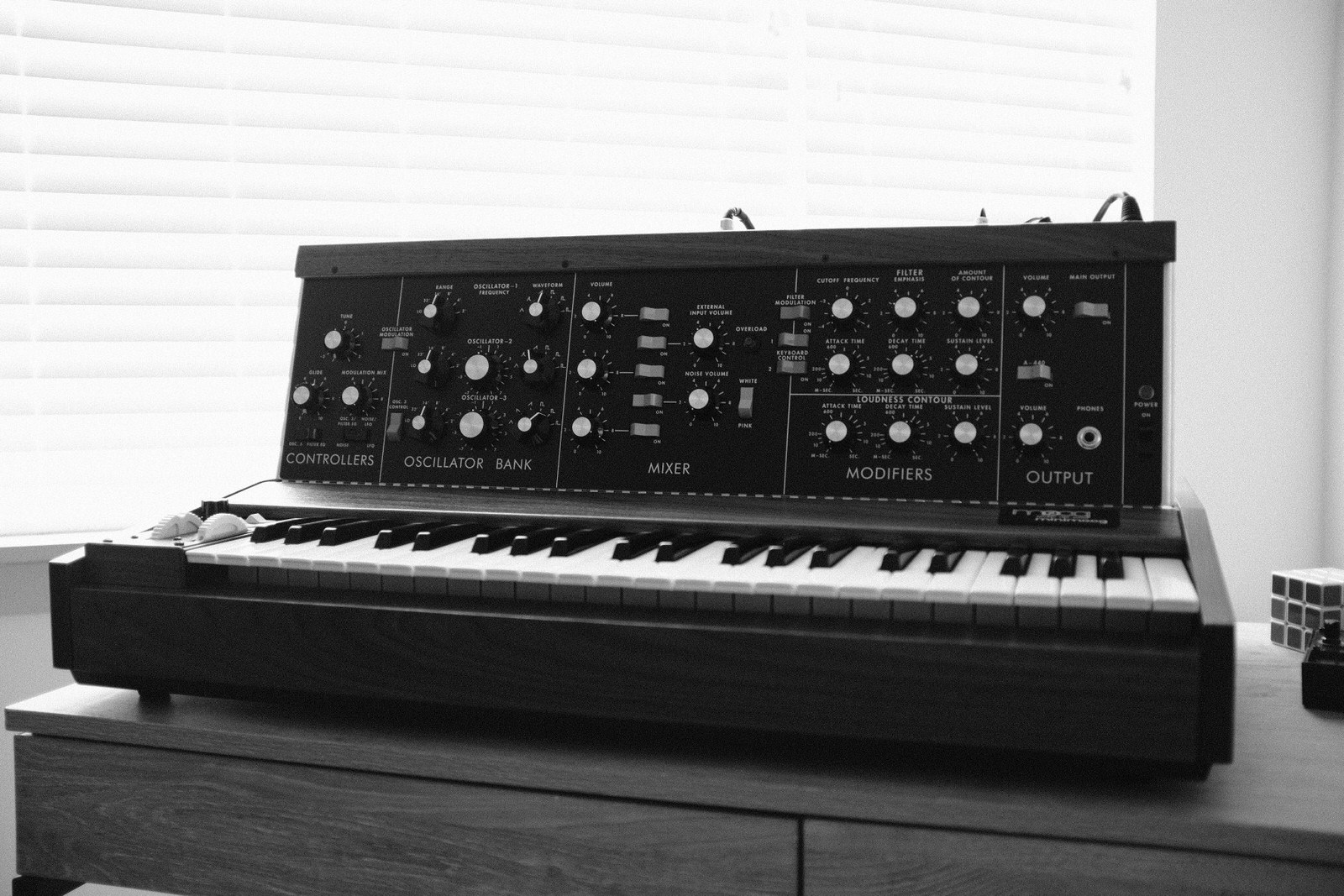 An image of the Minimoog Model D Reissue.