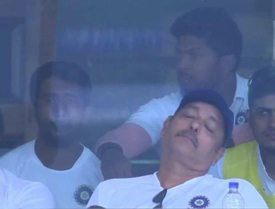 Ravi Shastri Napping
