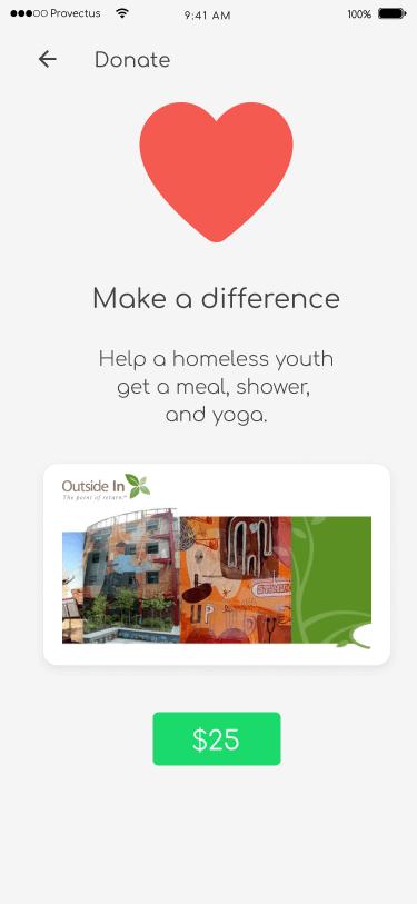 Donate Screen