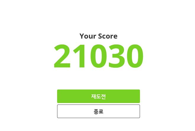 점수: 21030점