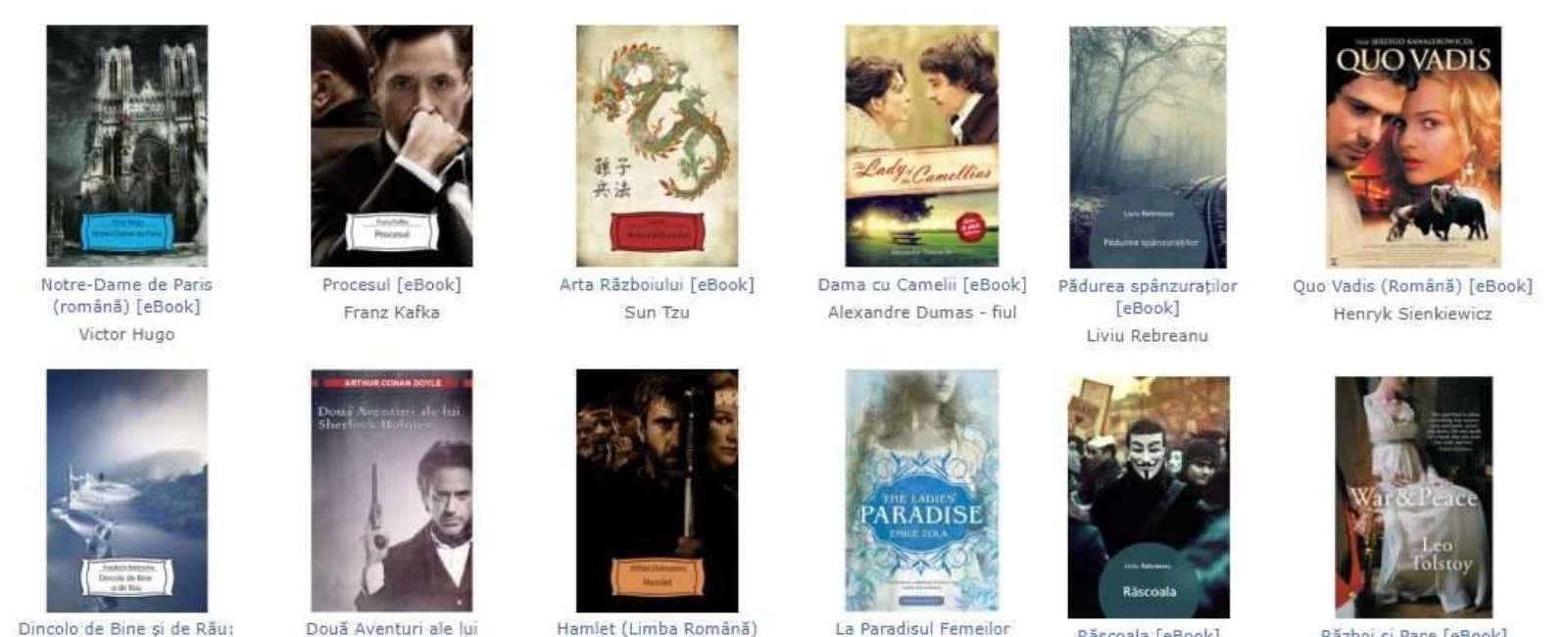 1000 de Carti Digitale (eBook) Gratis
