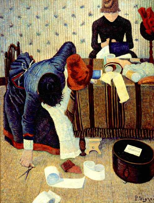 'The Milliner' by Signac in 1885, currently at E.G. Bührle Foundation, Zürich, Switzerland