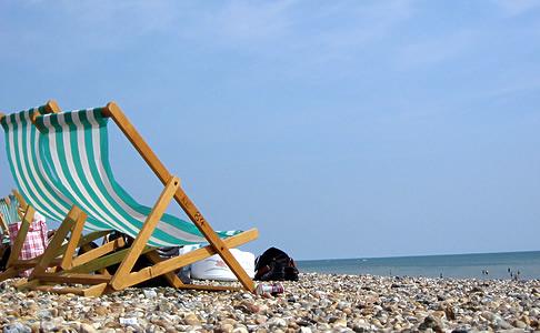 Deck-chairs on Littlehampton Beach