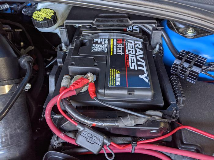 Antigravity Battery installed in the engine bay