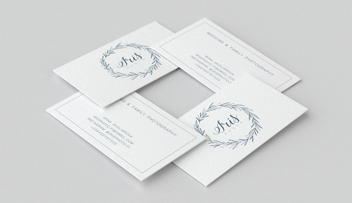botanical logo and business card for Iris photography item thumbnail