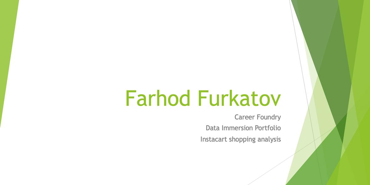 Farhod Furkatov's Project
