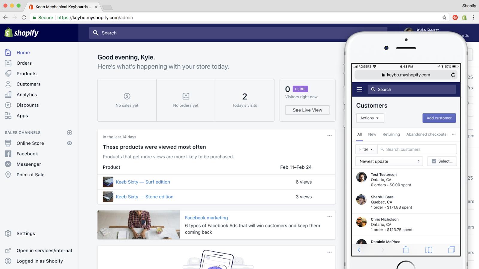 Shopify UI