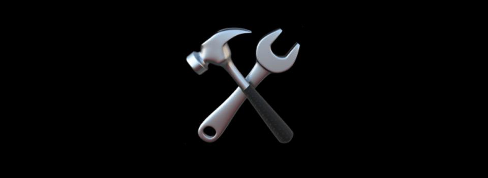 Hammer and spanner cross emoji