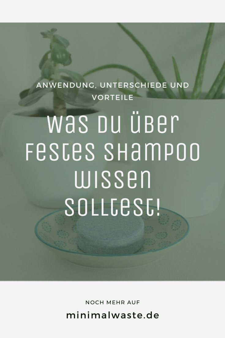 Pinterest Cover zu 'Festes Shampoo: Was du alles wissen solltest!'
