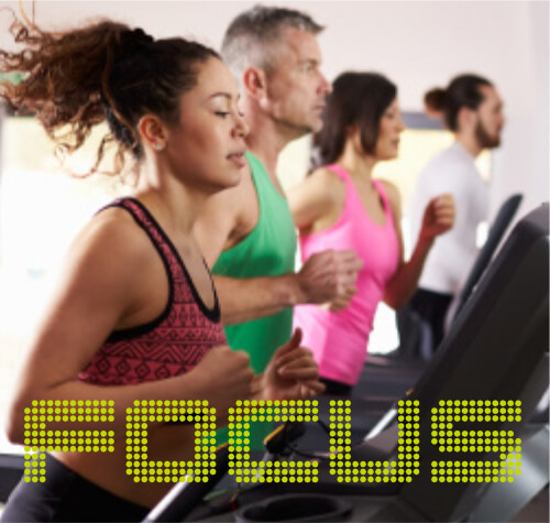 4 people running on treadmills