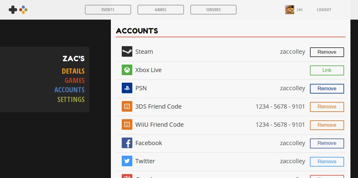 Screenshot of the UPGS website at a typical desktop screen size