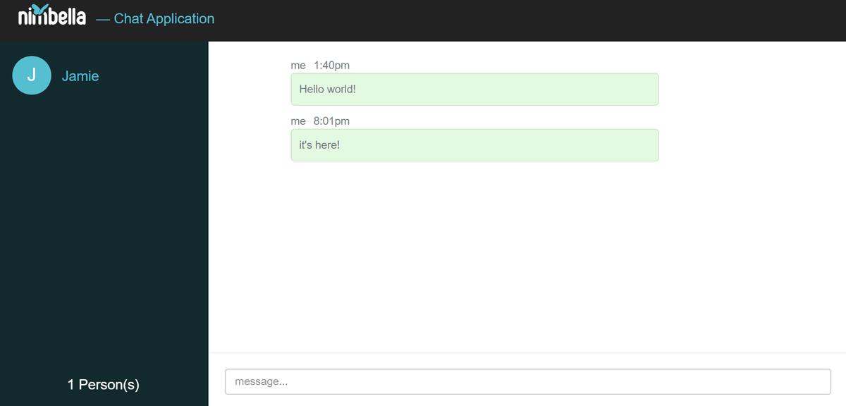 stateful serverless chat application