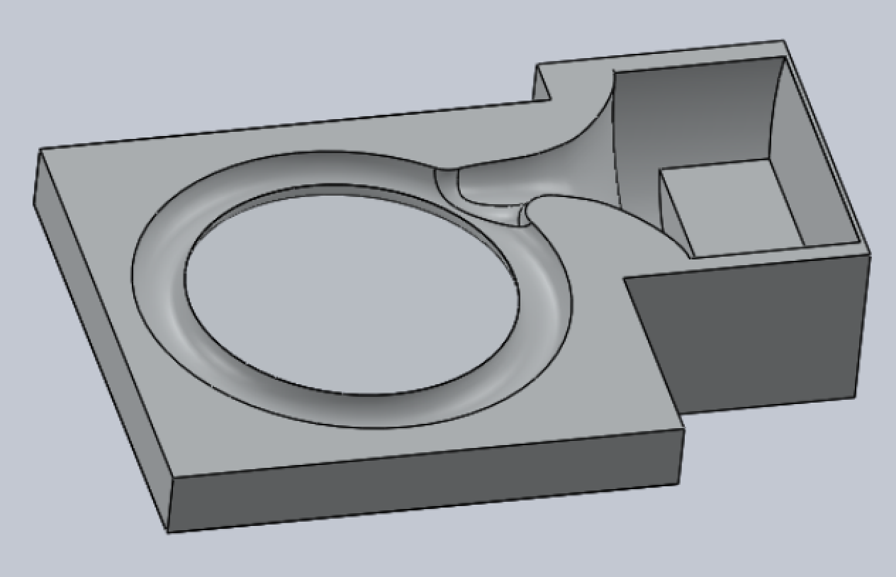 CAD model of the core box