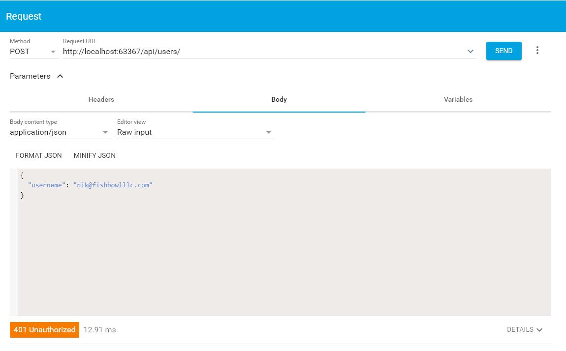 API Test Unauthorized
