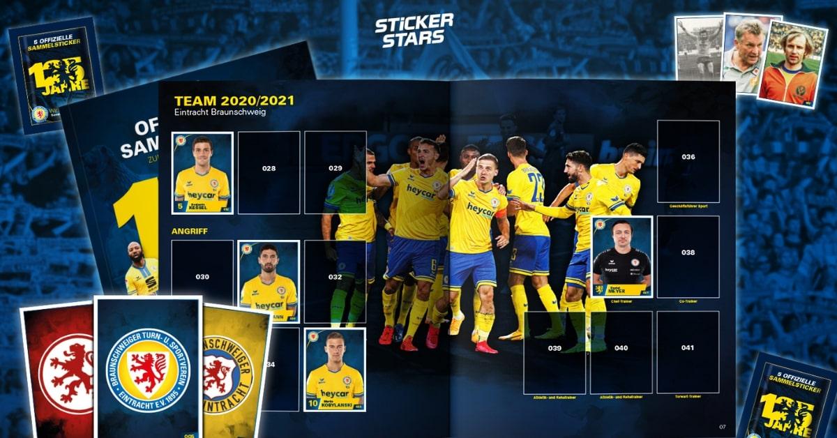 Eintracht Braunschweig mit eigenem Stickeralbum