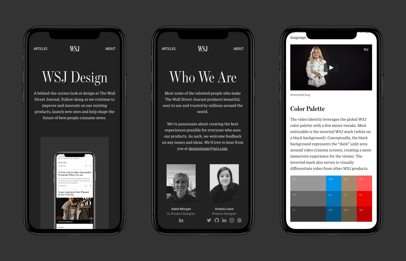 design.wsj.com – a public blog showcasing our work and team.