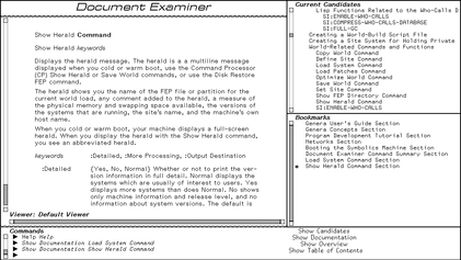 Screenshot of the Document Examiner interface in the Genera Operatin System