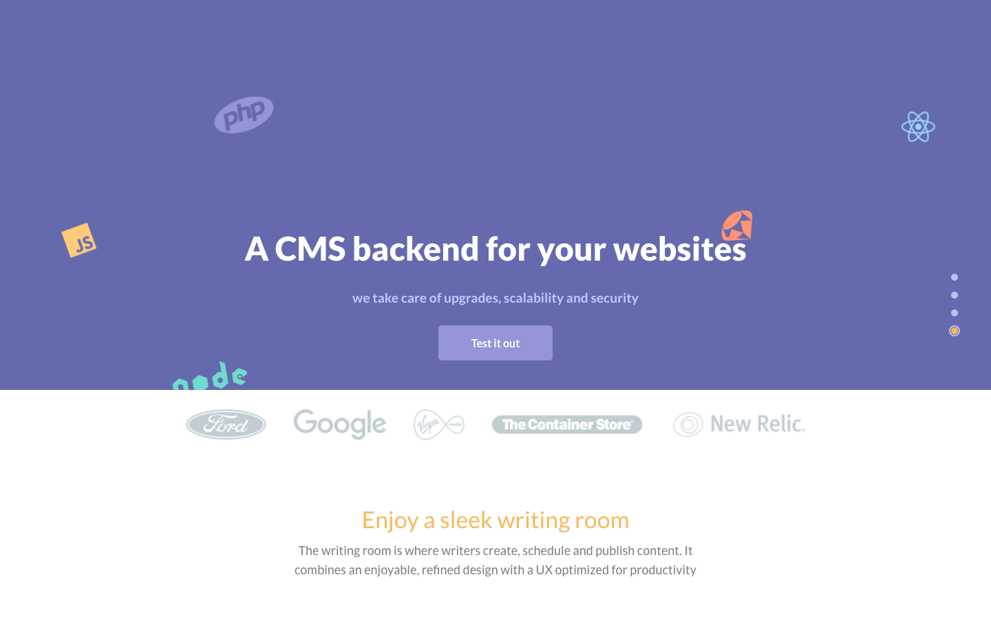 A CMS backend for your websites
