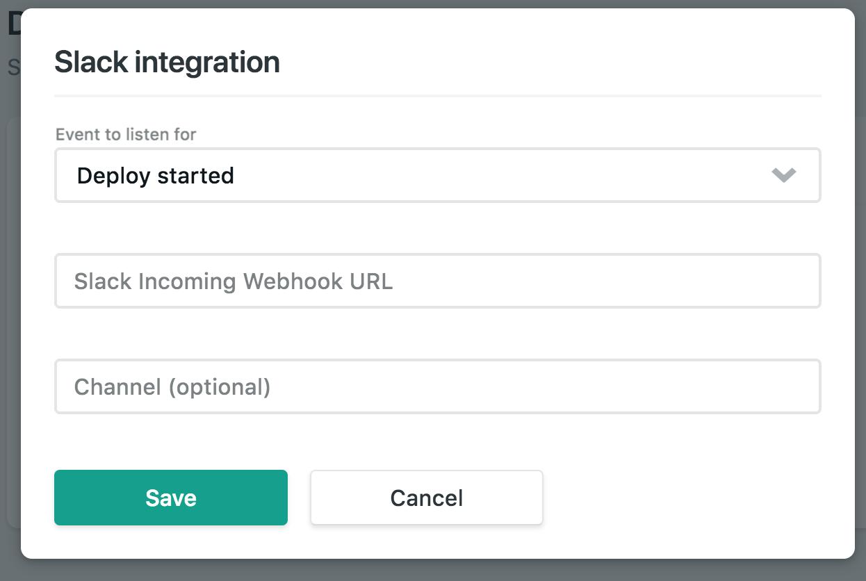 netlify slack integration