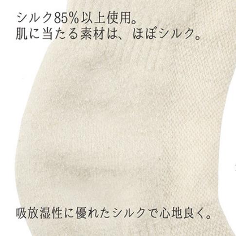 シルク混ひざ立体サポーター3
