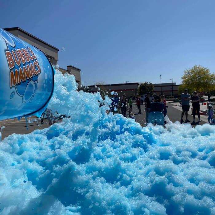 Blue foam party.