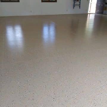 light brown epoxy garage floor