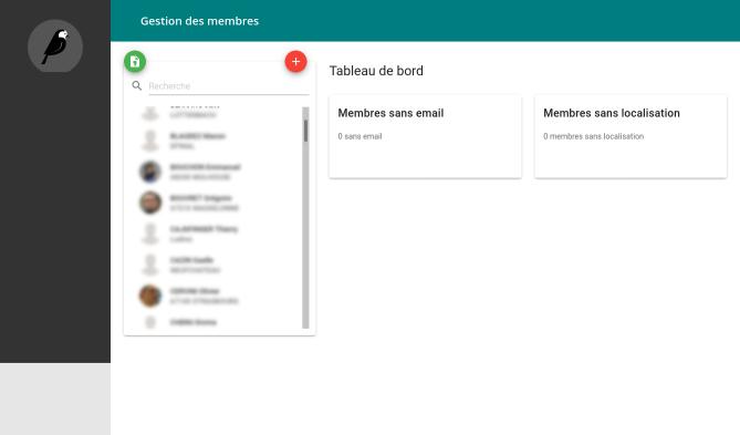 AROE - member management screenshot