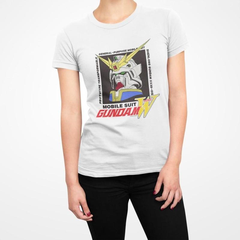 Gundam Mobile Suit Wing White T-shirt