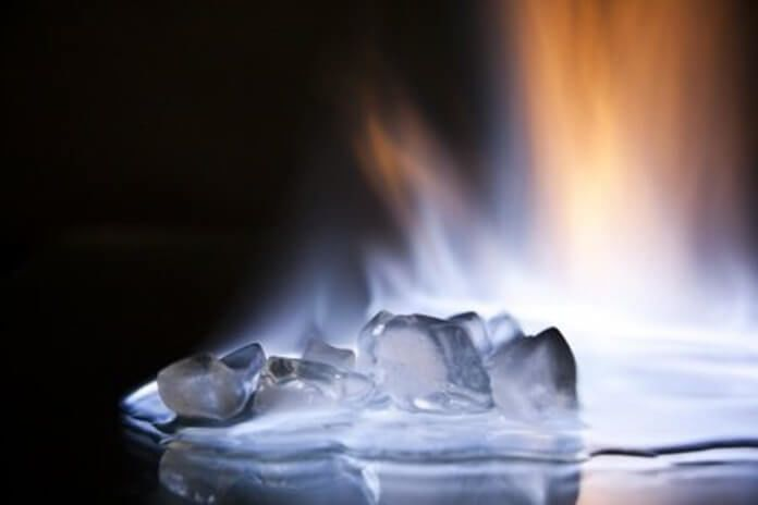 Ice that is on fire