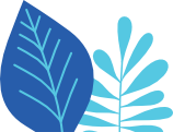 blue leaves drawing