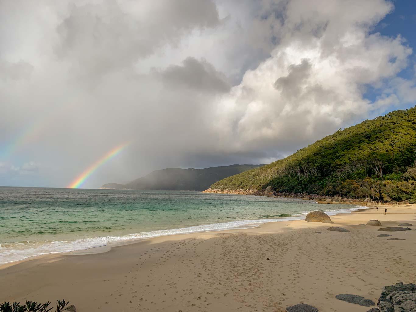 Rainbow over Waterloo Bay