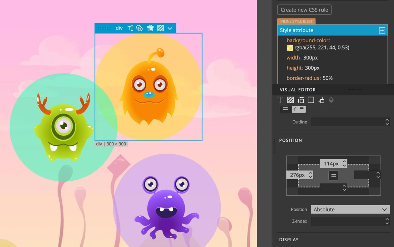 Fun interactive lessons about HTML and CSS for children.