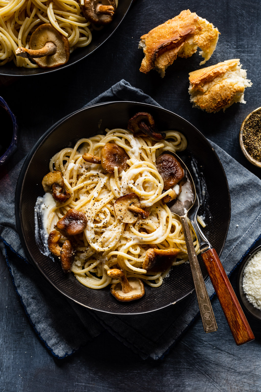 Cacio e Pepe With Mushrooms